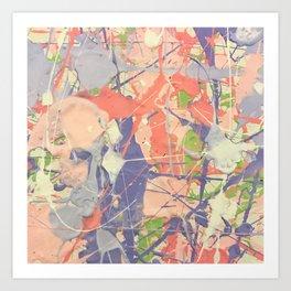 Miniature Original - lilac Art Print