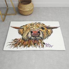 Scottish Highland Cow ' POPEYE 2 ' by Shirley MacArthur Rug