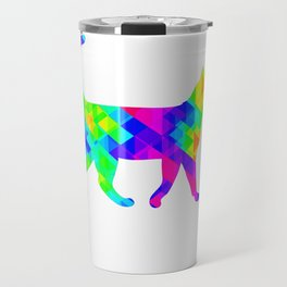 Rainbow Square Cat Inverted 1 Travel Mug