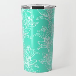Lily Love in Mint Travel Mug