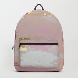 Pink and Gold Abstract Art Backpack