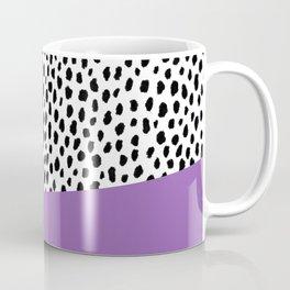 Dalmatian Spots with Purple Stripe Coffee Mug