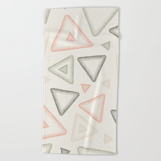 Retro Dotted Pattern 01 Beach Towel