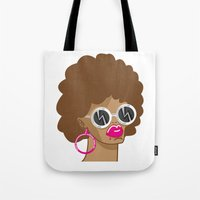 afro Tote Bags featuring Afro by Zenga N