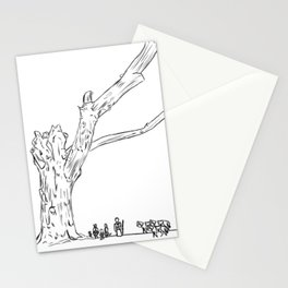 Dead Tree Lines Stationery Cards
