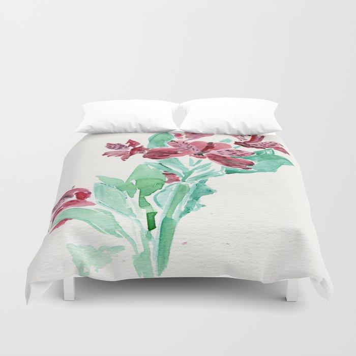 Peru Lilies Duvet Cover