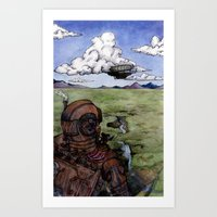 steam punk Art Prints featuring Steam Punk by Elizabeth A