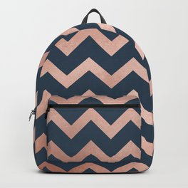 Blue & Pink Chevron Backpack