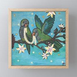 Pair of Parrots Color Correct Original Version Framed Mini Art Print