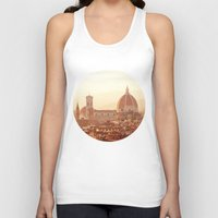florence Tank Tops featuring Florence Cathedral by happeemonkee