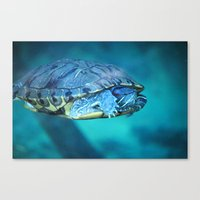 swim Canvas Prints featuring Swim by Call_me_maurice