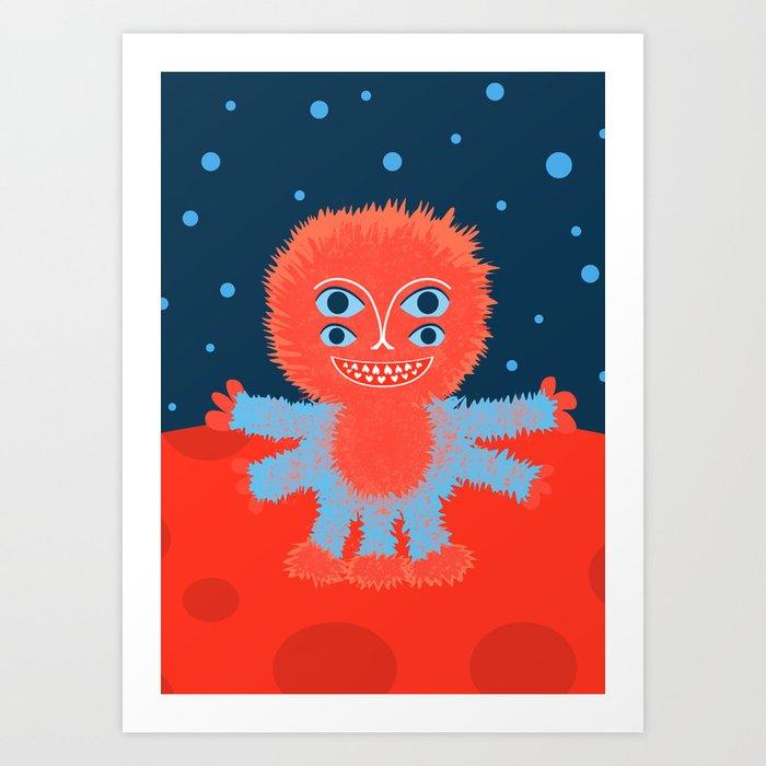 Focussian Furry Alien Art Print