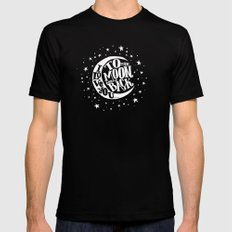 i love you to the moon and back MEDIUM Black Mens Fitted Tee