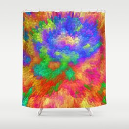 Colorfull Extrusion  Shower Curtain