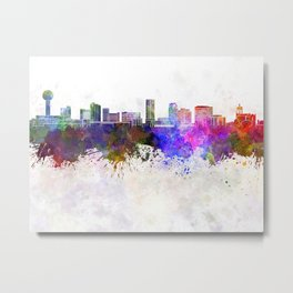Knoxville skyline in watercolor background Metal Print