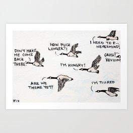 Bird no. 19: Road trip Art Print