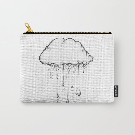 Happy Cloud Drawing, Cute Whimsical Illustration Carry-All Pouch