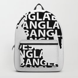 Map of Bangladesh with typography- International mother language day Backpack