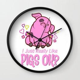 I Just Really Like Pigs Wall Clock