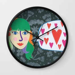 Paper Dollies - LoveTalk Wall Clock