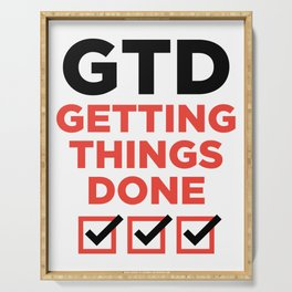 GTD : GETTING THINGS DONE Serving Tray