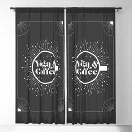 Yoga & Coffee Blackout Curtain