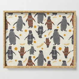 Mary's Penguins Serving Tray