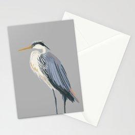 Gazing Blue Heron Stationery Cards