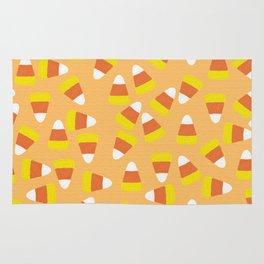 Candy Corn Jumble (light orange background) Rug