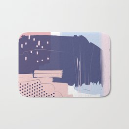 Blush Purple Blue Pink Decorative Abstract painting -1, Colour Symphony abstraction, Bath Mat