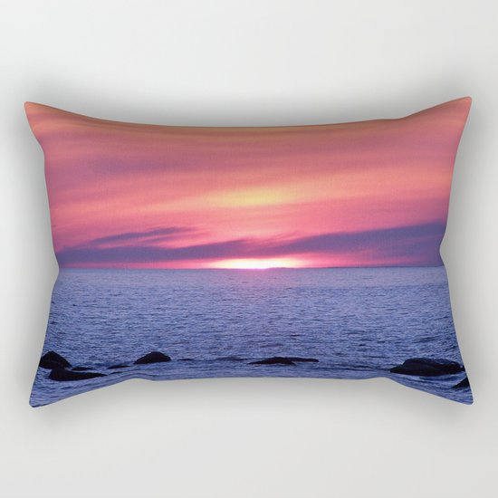 Painted By Nature Rectangular Pillow