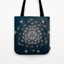 Pretty Pastels Dark Floral Watercolors Tote Bag