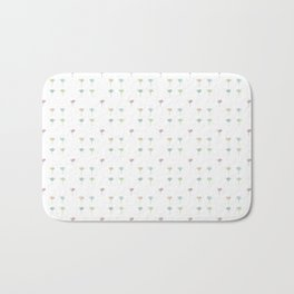 Watercolor Daisy Pattern Bath Mat