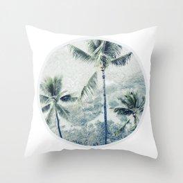 Reef palms Throw Pillow