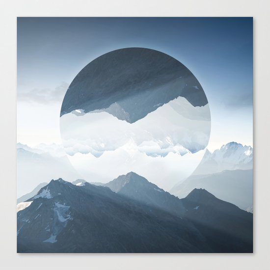 High mountain in morning time Canvas Print