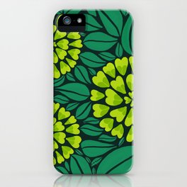 Spring Green Floral pattern iPhone Case