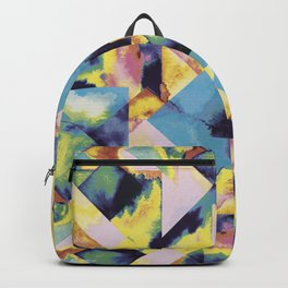 Blue colored tiles Backpack