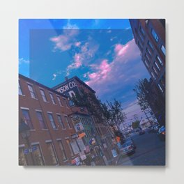Summer on Moulton Street, Old Port, Portland, Maine Metal Print