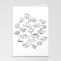 space jam Stationery Cards featuring Space jam by cloe de la vega