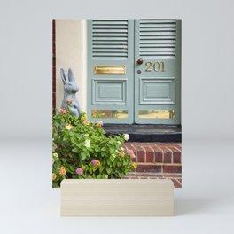 The Rabbit at No. 201 / Alexandria, VA Mini Art Print
