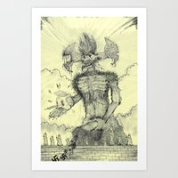 just another prick and a wall (not safe for work/easily offended racists) Art Print