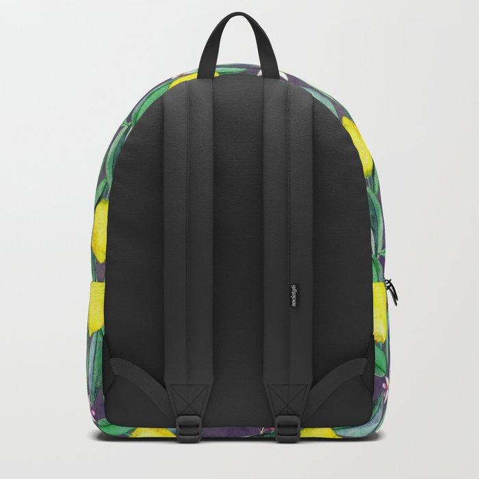 When Life Gives You Lemons - grey purple Backpack