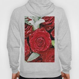 Bouquet of red roses in the rain I Hoody