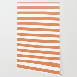 Big Foot Feet - solid color - white stripes pattern Wallpaper