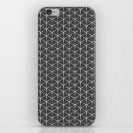 RAVE techno spike pattern in warm gray neutral palette iPhone Skin