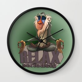Lion King / Rafiki / Relax Wall Clock