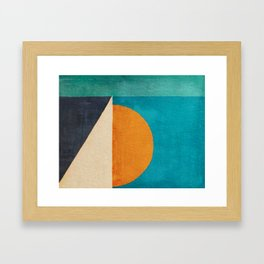 Regata al Tramonto Framed Art Print