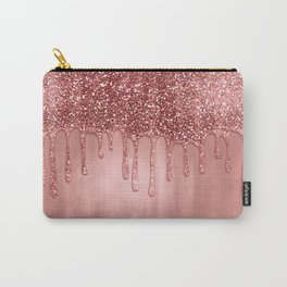 Dripping in Rose Gold Glitter Carry-All Pouch