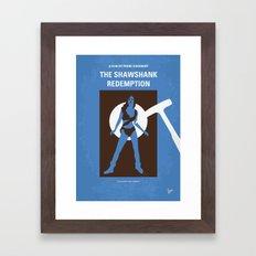 No246 My THE SHAWSHANK REDEMPTION minimal movie poster Framed Art Print