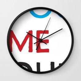 You Me Oui Wall Clock